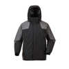 228T Nylon Taslon with PU Clear Coating Black/Gray Waterproof Windbreaker Jacket