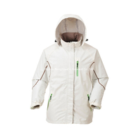 Polyester Microfibre With PU Coating White Windbreaker Jacket