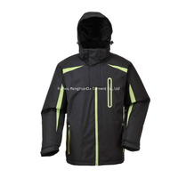 BF-JK-001PH Mens ski jacket in polyester pongee PVC coating