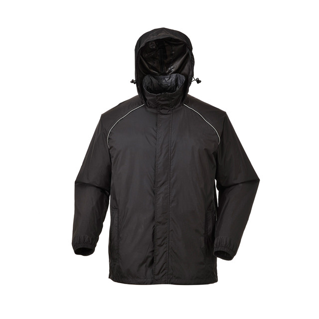 190T Nylon with PU Clear Coating Windbreaker Set With Hood