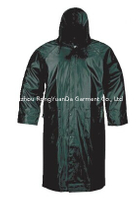 Polyester with PVC Coating Waterproof Long Raincoat
